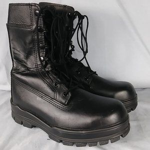 Bates Durashocks 6 W Black Leather Steel-Toe Milit